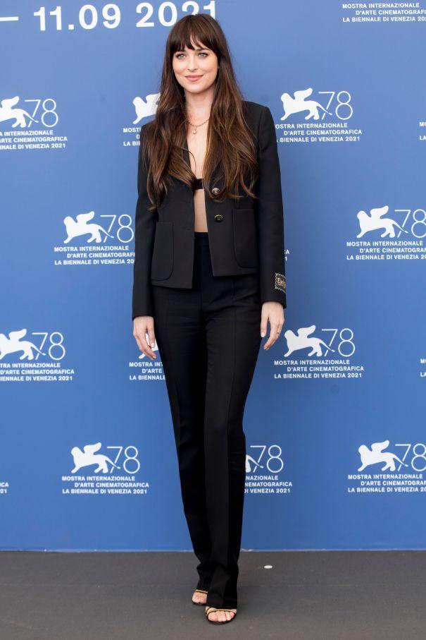 Dakota Johnson Suits Up
