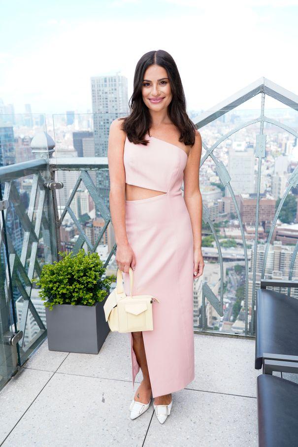 Lea Michele Blushing In Pink