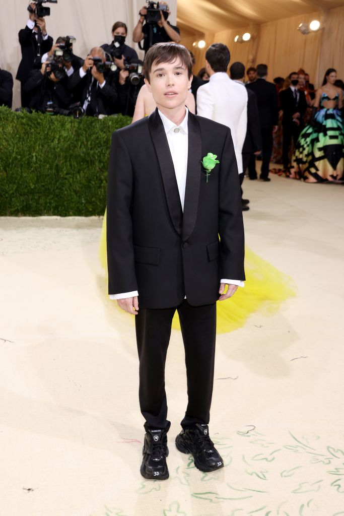 Elliot Page attends The 2021 Met Gala Celebrating In America: A Lexicon Of Fashion at Metropolitan Museum of Art on September 13, 2021 in New York City. Photo: John Shearer/WireImage
