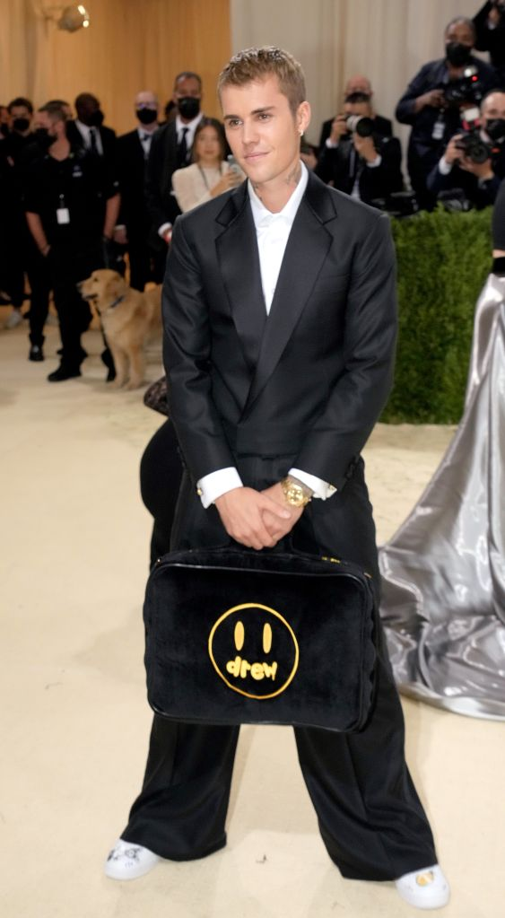 Justin Bieber attends The 2021 Met Gala Celebrating In America: A Lexicon Of Fashion at Metropolitan Museum of Art on September 13, 2021 in New York City. Photo: Jeff Kravitz/FilmMagic/Getty