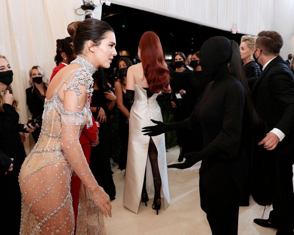 Kendall Jenner and Kim Kardashian West. Photo: Arturo Holmes/MG21/Getty Images