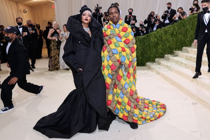 Rihanna and A$AP Rocky attend The 2021 Met Gala. Photo: Theo Wargo/Getty Images