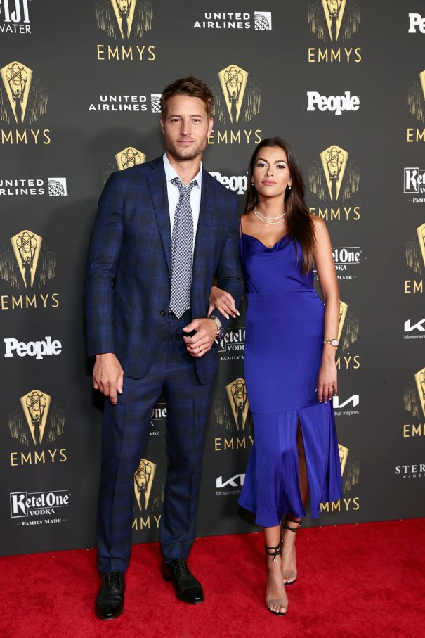 Justin Hartley and Sofia Pernas Attend Emmy Reception