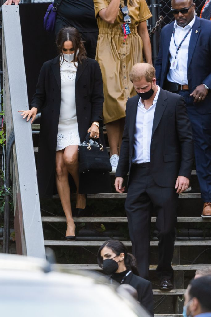 Meghan Markle, Duchess of Sussex, and Prince Harry, Duke of Sussex, depart the Global Citizen concert in Central Park. Photo: Gotham/GC Images