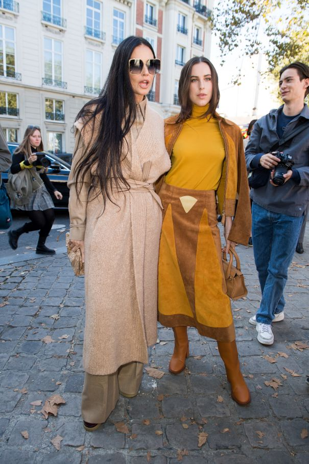Demi Moore And Daughter Scout Willis Attend Chloé Fashion Show In Paris