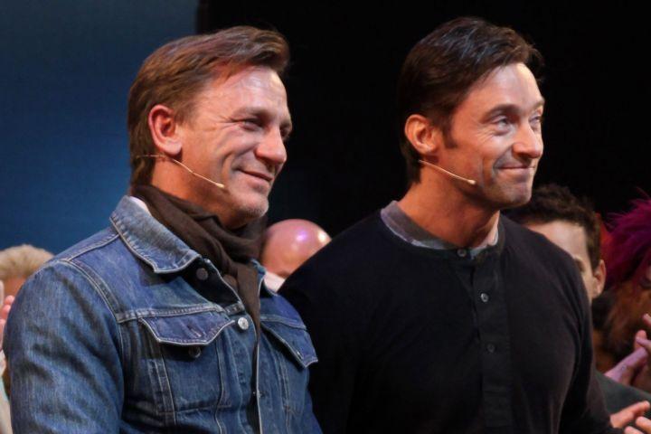 Daniel Craig and Hugh Jackman 2009