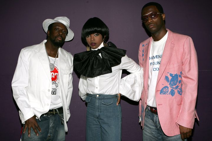 Wyclef Jean, Lauryn Hill and Pras Michel of the band the Fugees