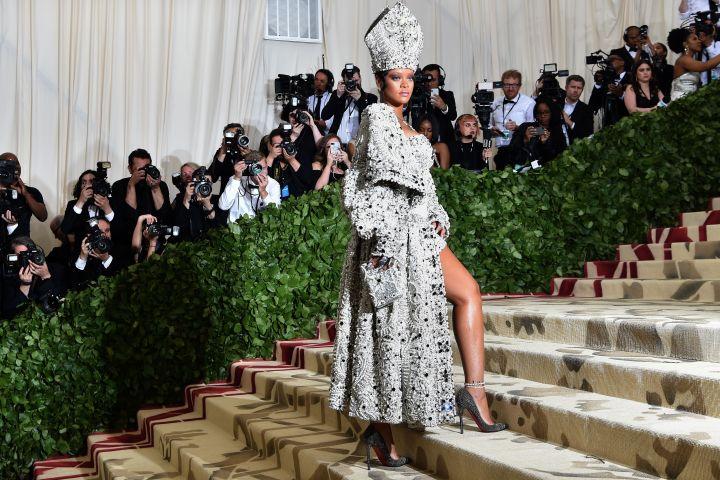 Rihanna arrives for the 2018 Met Gala. Photo: HECTOR RETAMAL/AFP via Getty Images