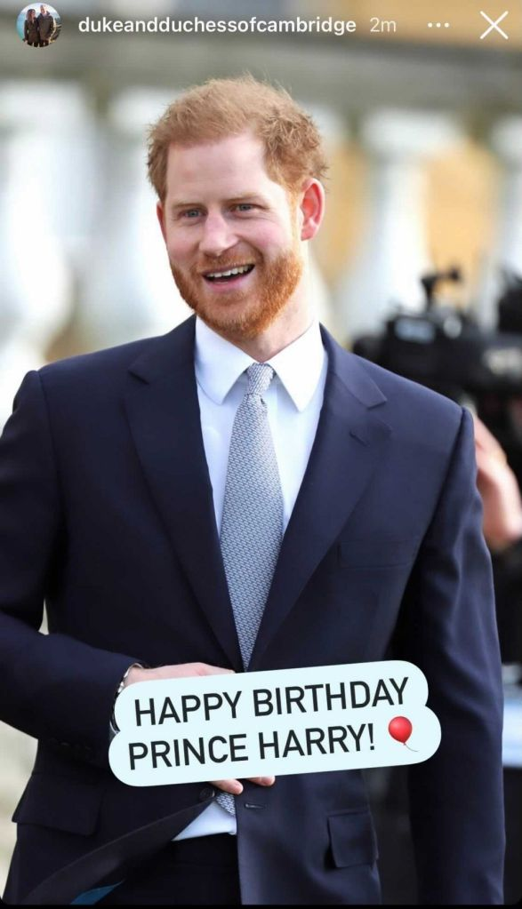 Prince Harry – Photo: Instagram / Duke and Duchess of Cambridge