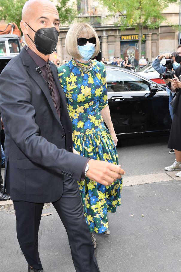 Anna Wintour Arrives At The Fendi Show
