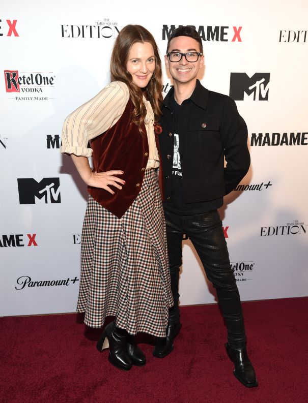 Drew Barrymore And Christian Siriano Attend 'Madame X' Premiere