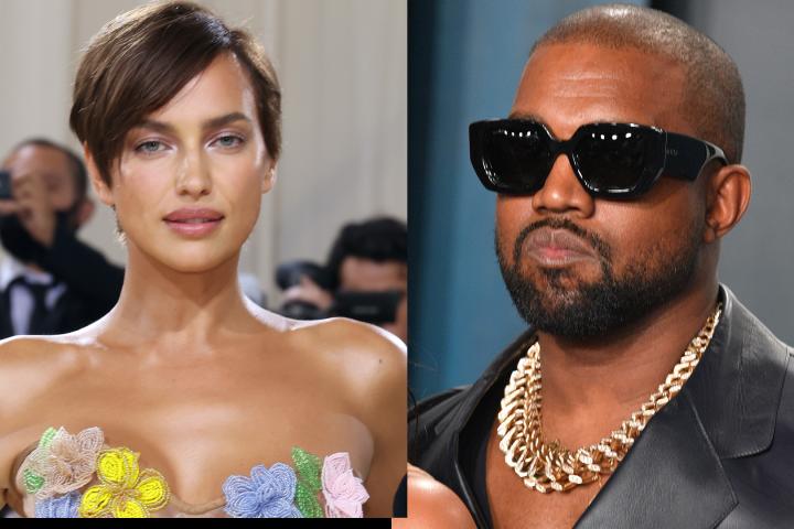 Irina Shayk, Kanye West.