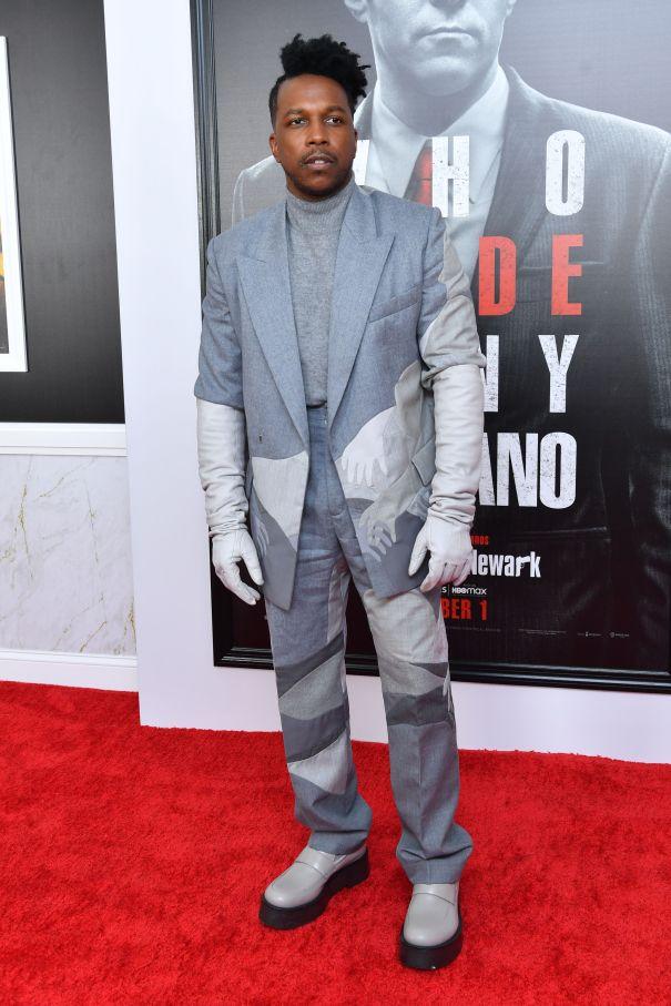 Leslie Odom Jr. Looks Dapper At 'The Many Saints of Newark' Premiere