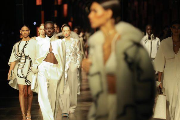 Models Walk The Fendi Runway