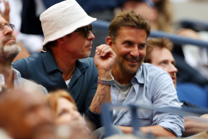 Brad Pitt and Bradley Cooper watching the action US Open Championships 2021, Day Fourteen, USTA National Tennis Center, Flushing Meadows, New York, USA - 12 Sep 2021