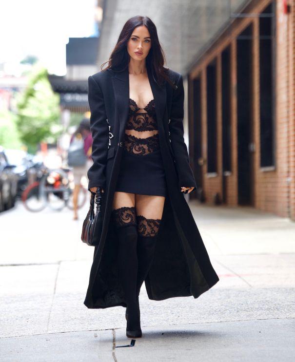 Megan Fox Looks Lovely In Lace