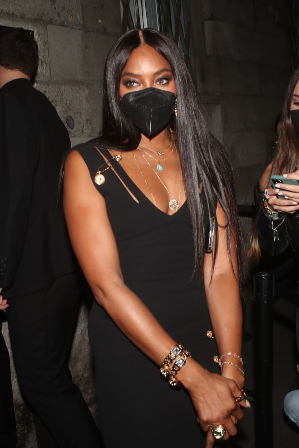 Naomi Campbell Parties In LBD
