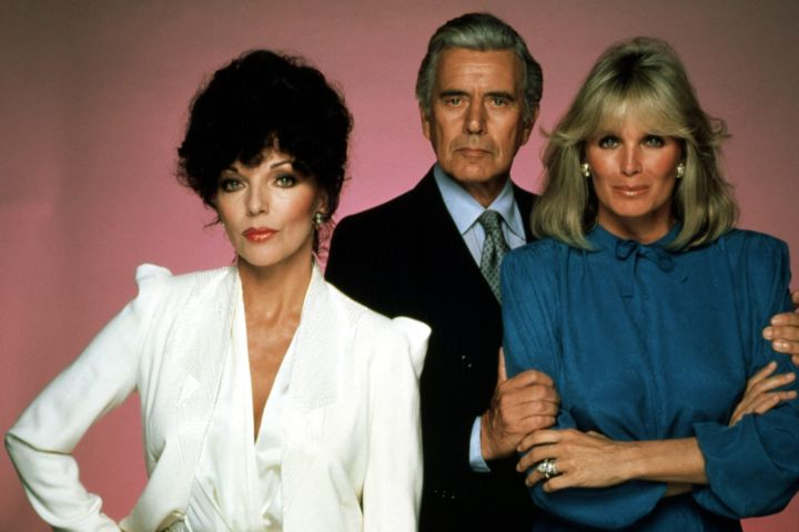 """Dynasty"" Joan Collins, John Forsythe, Linda Evans. Photo: CPImages"