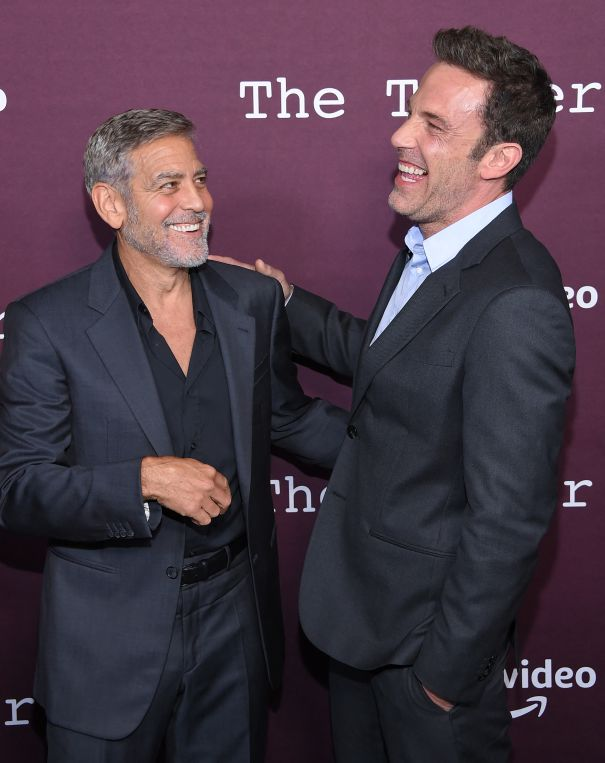 Clooney And Affleck At 'The Tender Bar' Premiere