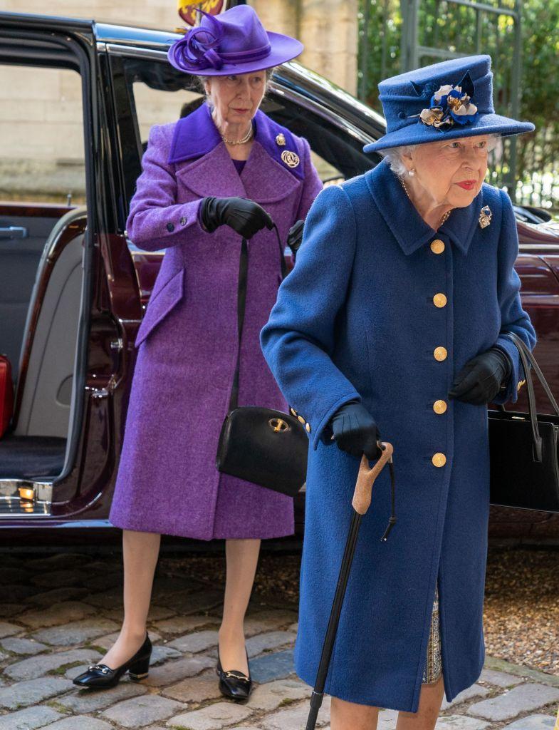 Queen Elizabeth and Princess Anne. Photo: ARTHUR EDWARDS/POOL/AFP via Getty Images