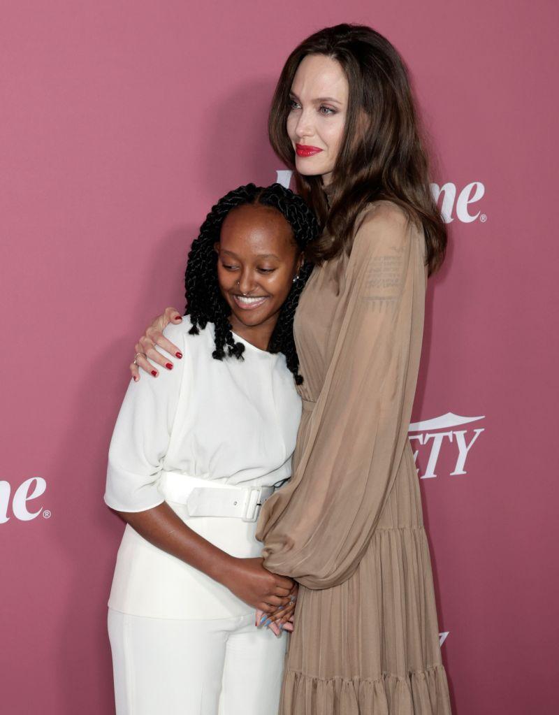 Zahara Jolie-Pitt and Angelina Jolie – Photo: Frazer Harrison/Getty Images