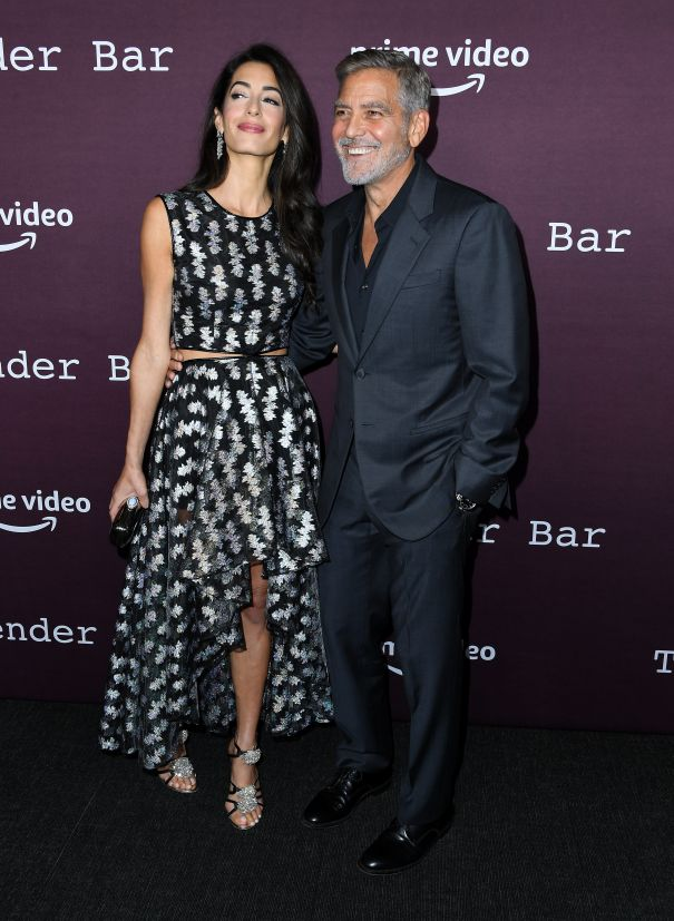 George And Amal Clooney Step Out