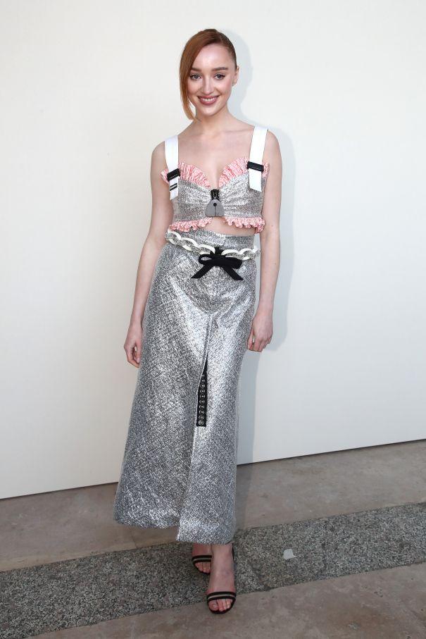 Phoebe Dynevor Stunning In Silver