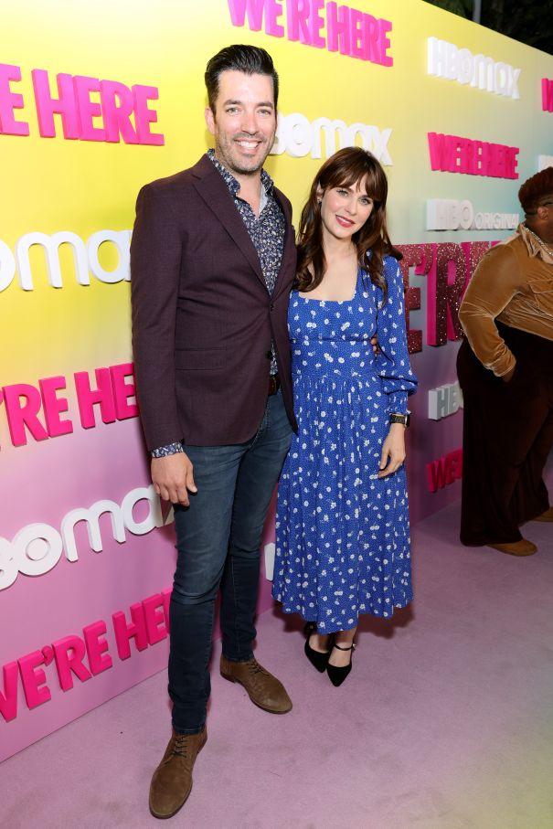 Jonathan Scott And Zooey Deschanel Attend 'We're Here' Premiere
