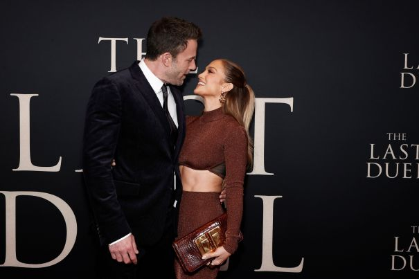 Ben Affleck and Jennifer Lopez At NY Premiere of 'The Last Duel'