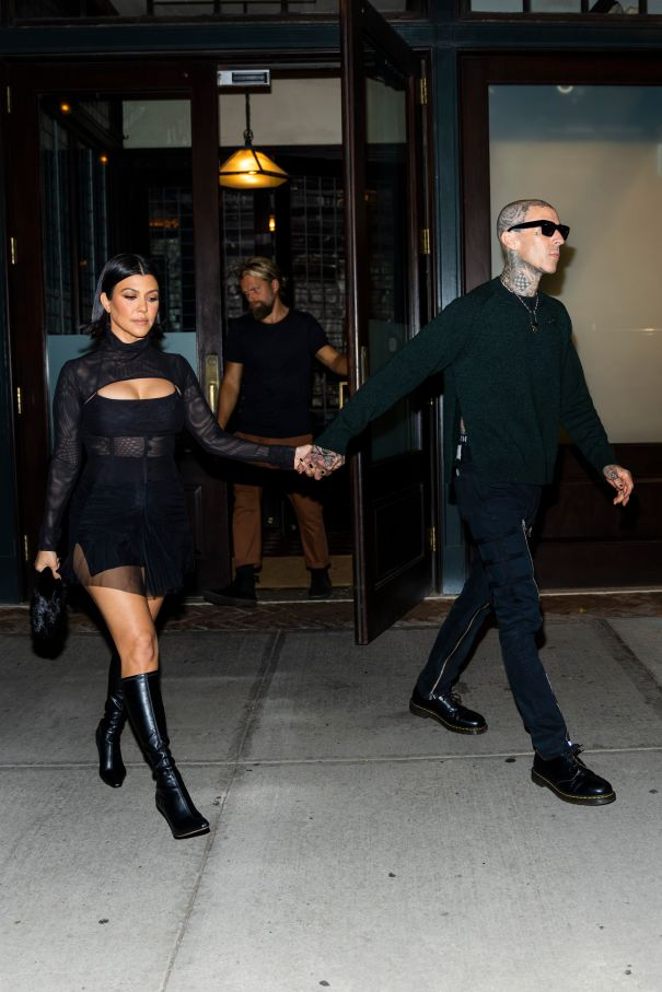 Kourtney Kardashian And Travis Barker On The Streets Of NYC