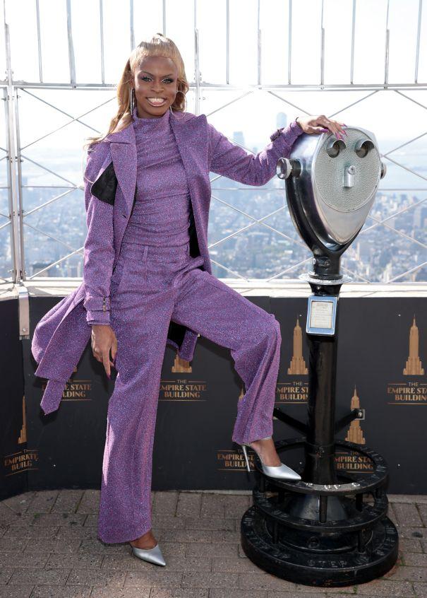 Symone Celebrates Spirit Day In NYC