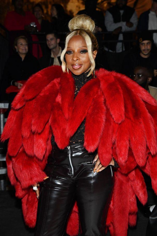 Mary J. Blige Oozes Glamour At Bottega Veneta Show