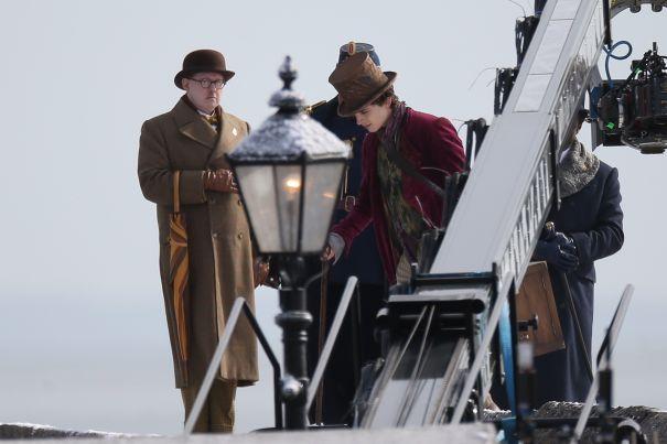 Timothée Chalamet Spotted On 'Wonka' Set