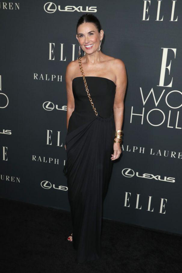 Demi Moore Stuns In Black