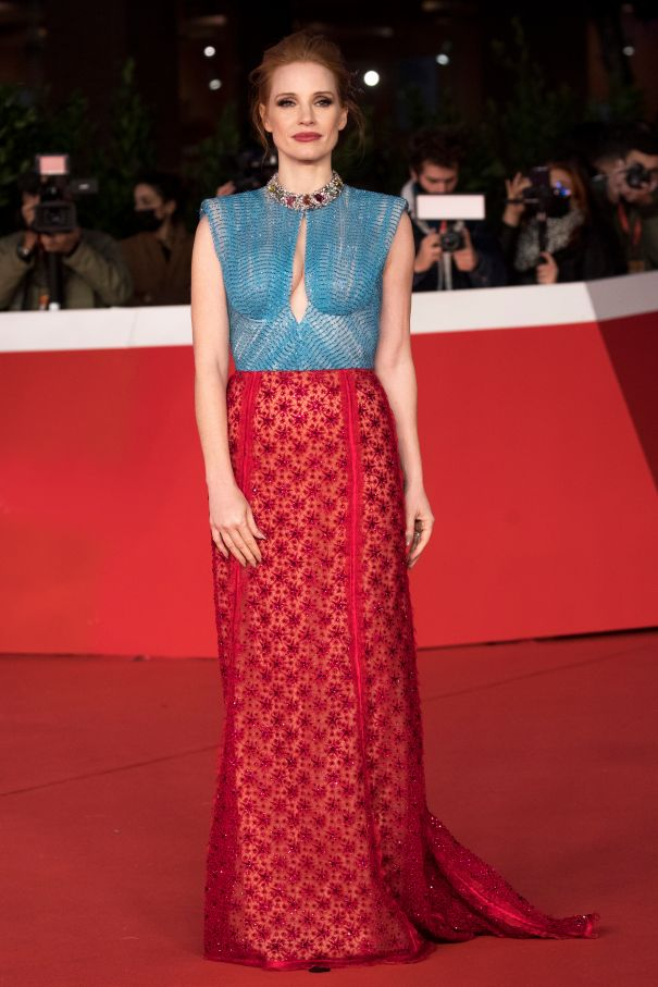 Jessica Chastain Regal In Rome