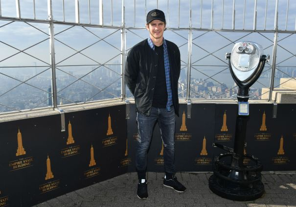 Hayden Christensen Gets A Bird's Eye View From The Top Of The Empire State Building
