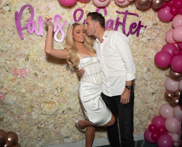 Paris Hilton, Carter Reum Celebrate In Vegas