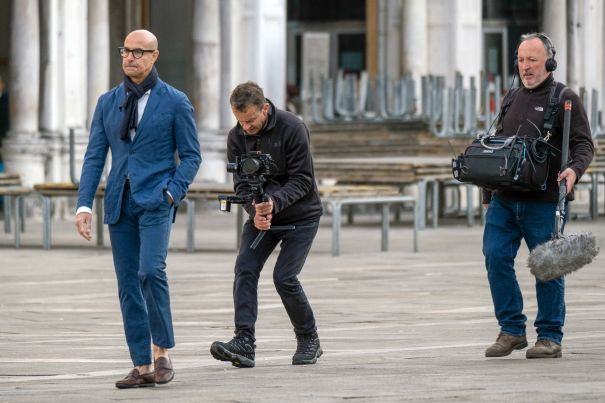 Stanley Tucci Films 'Searching For Italy' In Venice