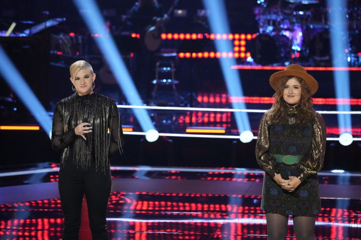 "Hailey Green, Lana Scott on ""The Voice"". Photo by: Greg Gayne/NBC"